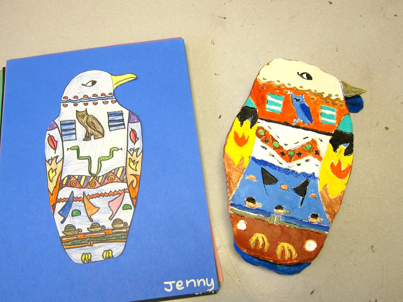 Egyptian clay sarcophagus 4th 5th grade for 4th grade craft projects