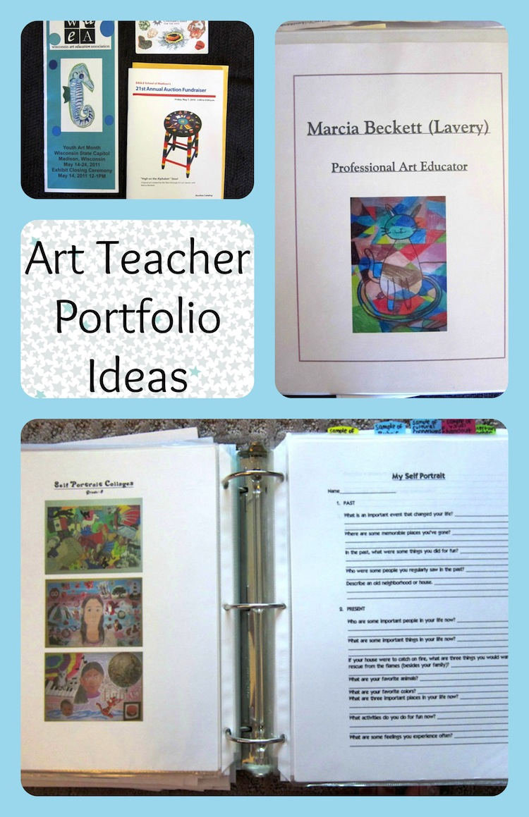 art teacher portfolio ideas for an interview