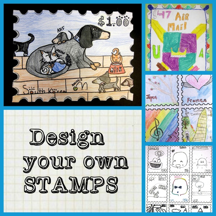 Design A Postage Stamp In Art Class