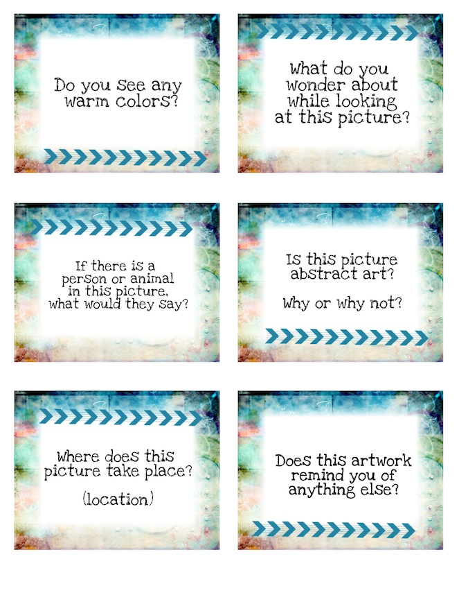 Art Discussion Cards for Class Critiques or Art History ...