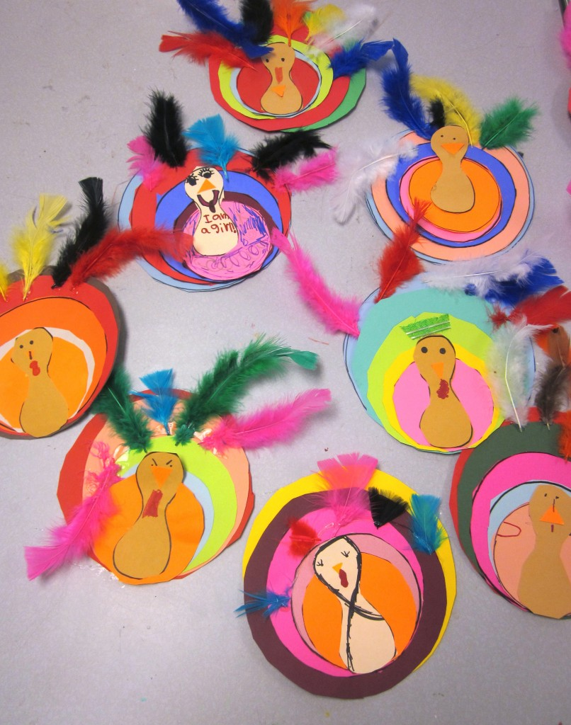 Colorful Turkey Project For Kindergarten