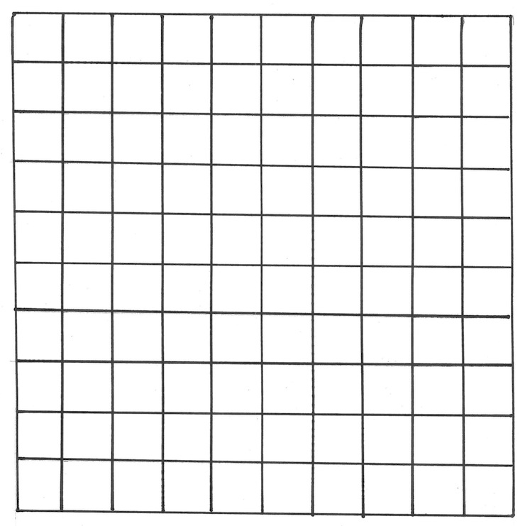 100 Square Grid Template