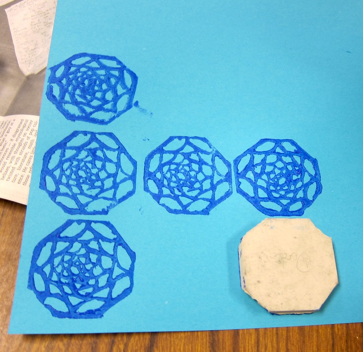 Carving rubber stamps with th and graders