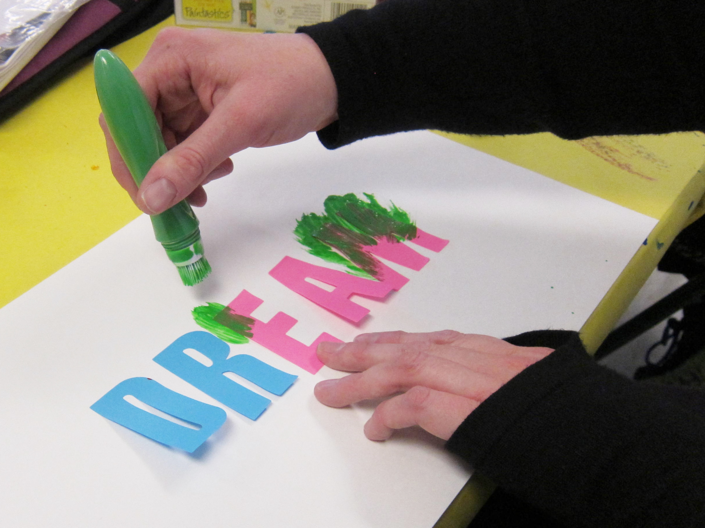 art with letters and words painting over adhesive letters With letters to paint over