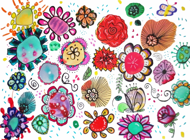 Easy And Fun Watercolor Flower Doodles Marcia Beckett