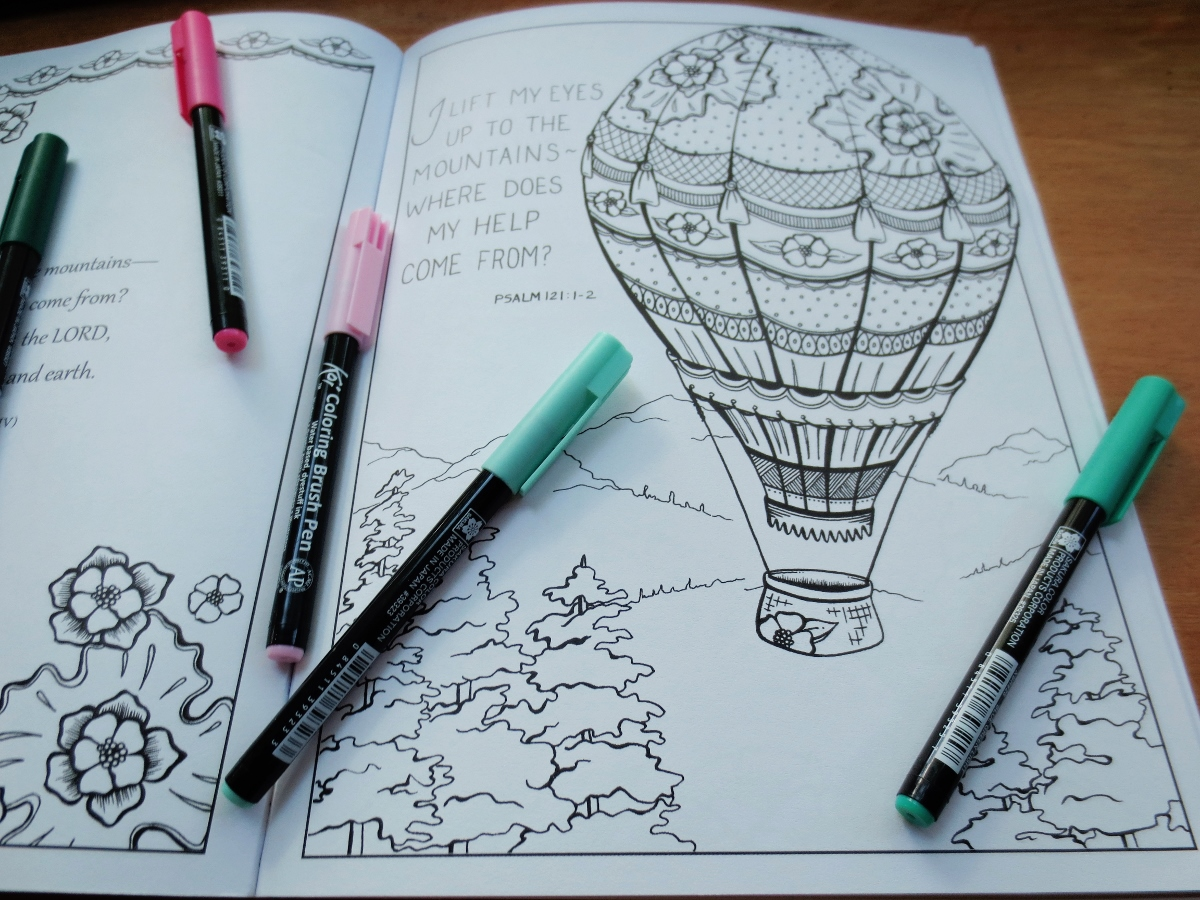 Hot Air Balloon Coloring (1200x900)