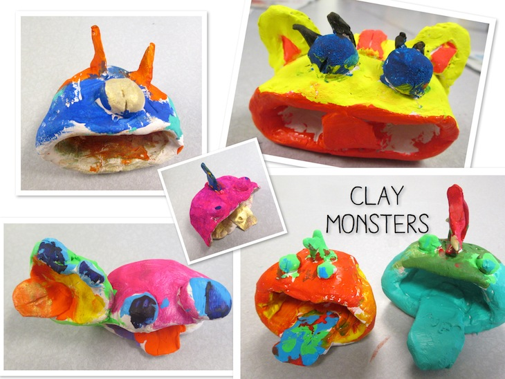 Clay Pinch Pot Monsters By 2nd Graders Art Is Basic An