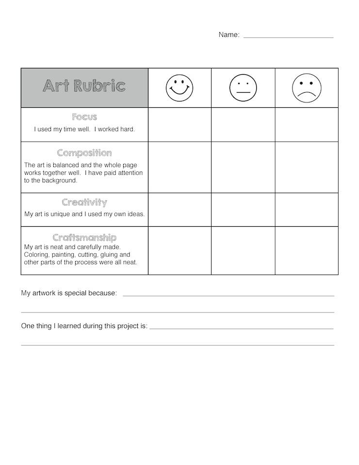 Art Rubric for Elementary     Art is Basic   An Elementary